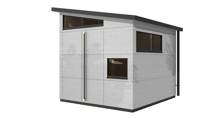 Gartenhaus trennwand einhausung carport gartana for Gartenhauser mit pultdach