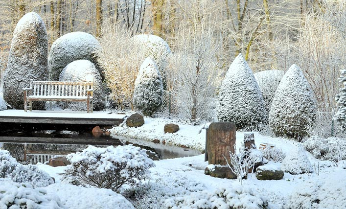 8 tipps f r den garten im winter gartana for Gartendeko winter