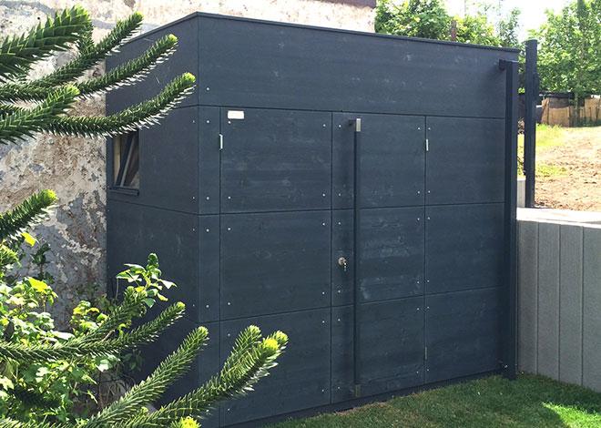 Gartenhaus Holz Wird Schwarz ~ Als besonders schmale Variante des gartana Gartenhauses, schmiegt sich