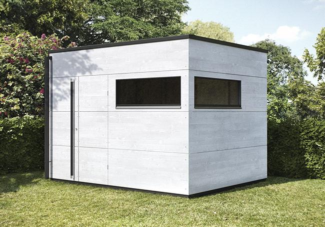 Gartenhaus flachdach top design service gartana for Gartenhaus design flachdach