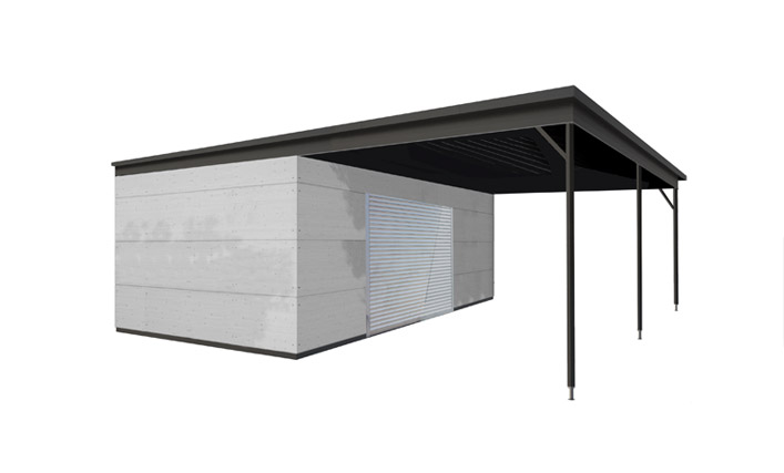 design carport individuell gestaltbar gartana. Black Bedroom Furniture Sets. Home Design Ideas