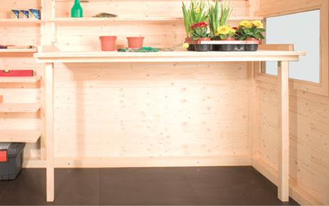 zubeh r f r ihr gartenhaus gartana. Black Bedroom Furniture Sets. Home Design Ideas
