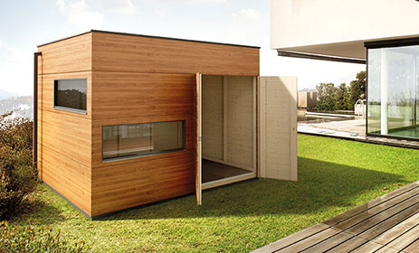 gartenhaus holz l form my blog. Black Bedroom Furniture Sets. Home Design Ideas