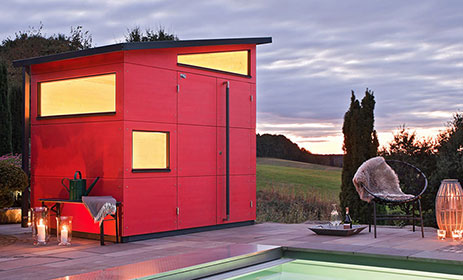 Design gartenhaus holz gartenhaus gartana for Gartenhauser mit pultdach