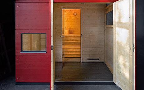 saunahaus f r ihren garten gartana wellness. Black Bedroom Furniture Sets. Home Design Ideas