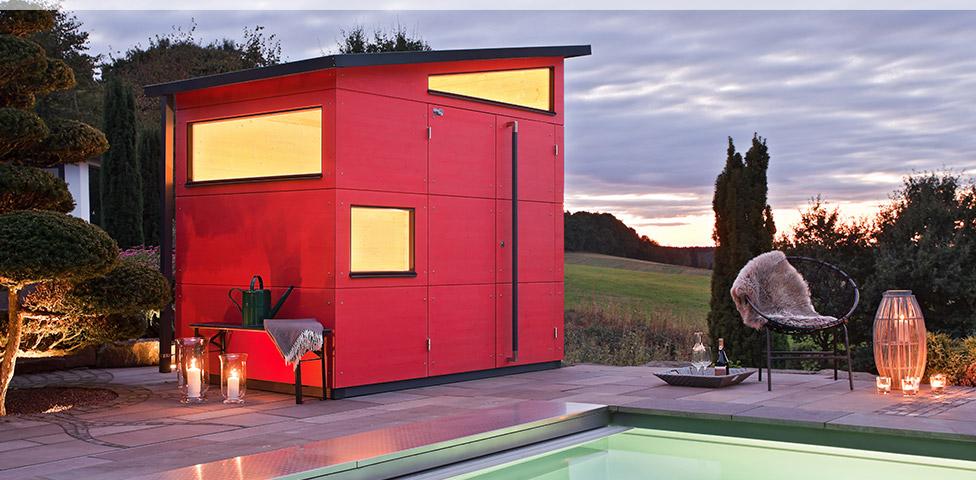 Design gartenhaus holz gartenhaus gartana - Beleuchtung gartenhaus ...