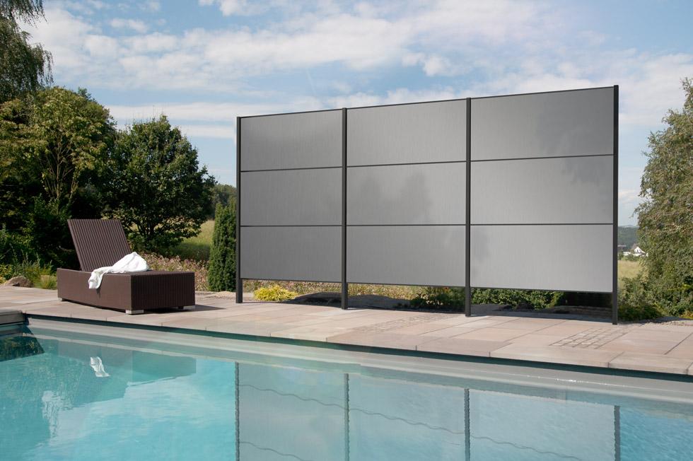 Sichtschutz f r garten aus aluminium gartana - Sichtschutz pool ...