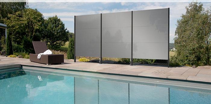 Sichtschutz Swimmingpool · Sichtschutz Aluminium