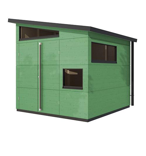 gartenhaus modern in farbe gartana. Black Bedroom Furniture Sets. Home Design Ideas