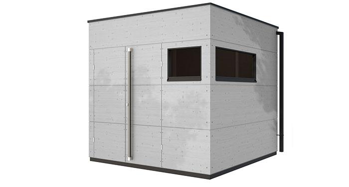 Design gartenhaus einhausung carport gartana - Modernes gartenhaus flachdach ...