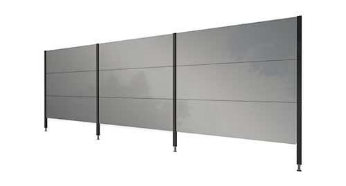 trennwand f r garten aus aluminium gartana. Black Bedroom Furniture Sets. Home Design Ideas