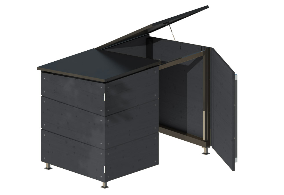 m lltonnenbox f r zwei m lltonnen gartana shop. Black Bedroom Furniture Sets. Home Design Ideas