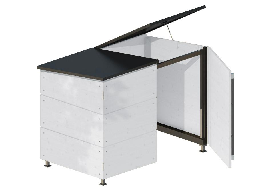 m lltonnenbox f r zwei m lltonnen gartana shop. Black Bedroom Furniture Sets. Home Design Ideas