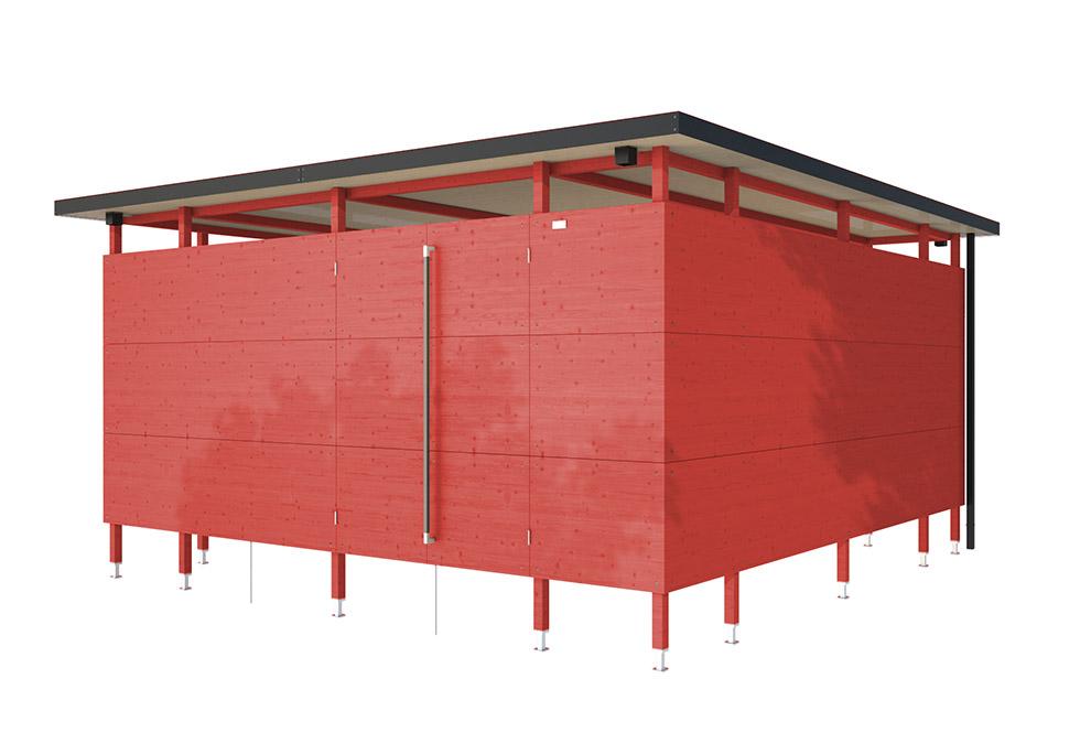 farbige einhausung farbige m lltonnenbox gartana. Black Bedroom Furniture Sets. Home Design Ideas