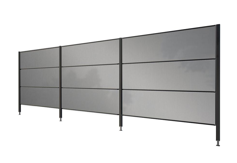 Sichtschutz Aluminium Dreiteilig Gartana Shop