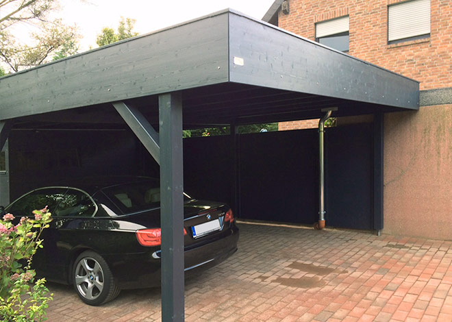 Design carports gartana bilder carports for Geschlossener carport