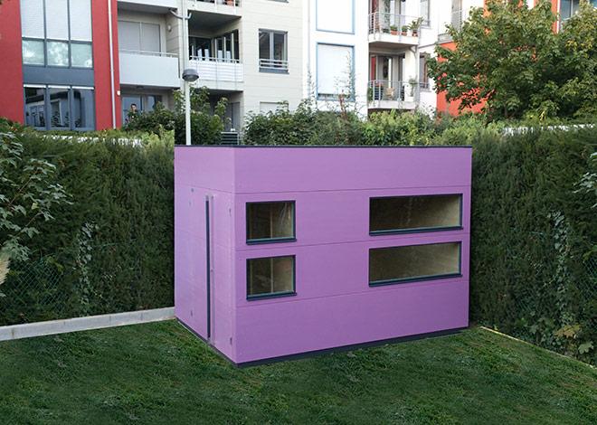 Saunahingucker in Violett / Purple