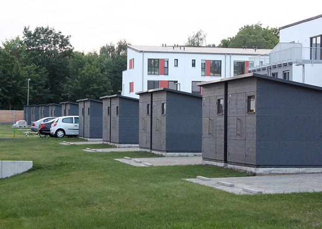 Gartenhäuser für Neubauareale
