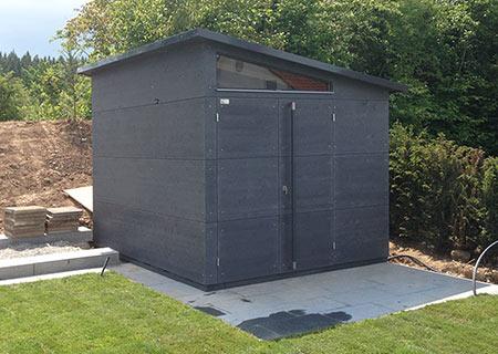 Kompaktes Gartenhaus M Anthrazit