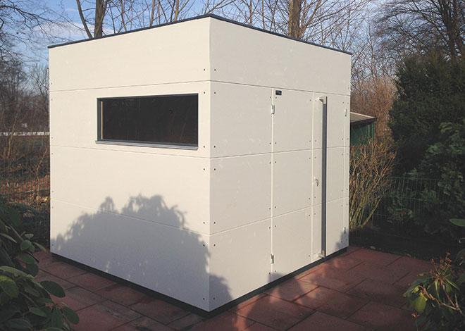 Kompaktes Gartenhaus M mit Flachdach