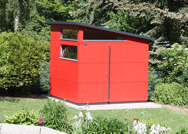 Rotes gartana Haus M