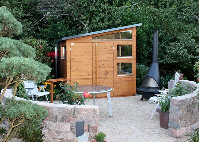 Gartenhaus M in Teak
