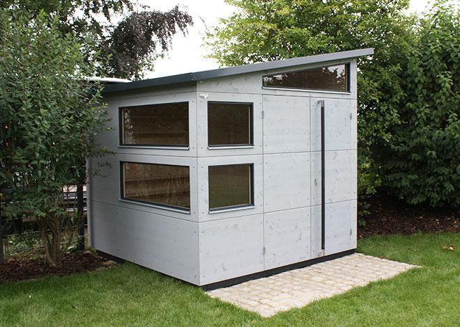 kompaktes gartenhaus gartana bilder. Black Bedroom Furniture Sets. Home Design Ideas