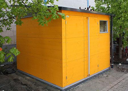 Gelbes gartana Haus M