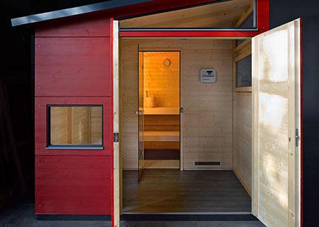 Vollwertige Sauna von gartana