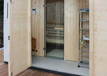 Innenansicht einer gartana Sauna