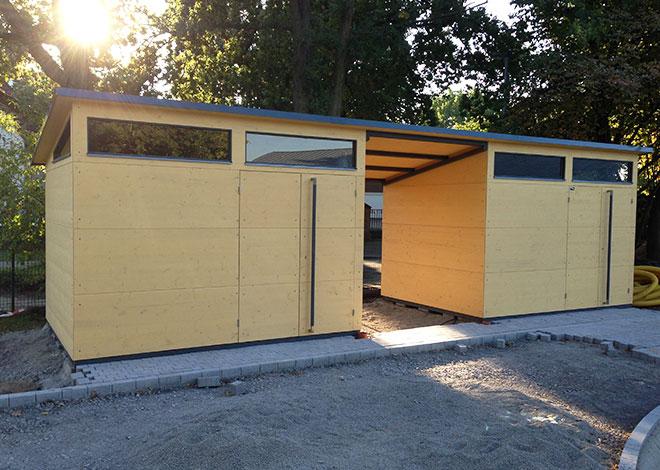 Verbundene Doppelhaus-Anlage