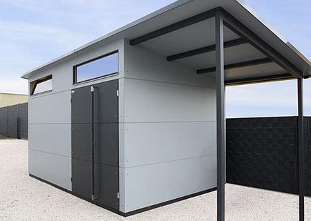 Gartenhaus XL mit Dachverlängerung