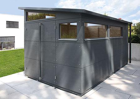 Gartenhaus XL mit umlaufenden Fenstern