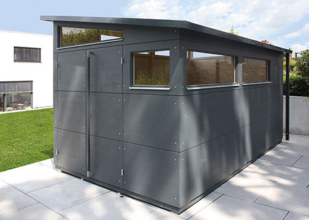 gro es holz gartenhaus gartana galerie. Black Bedroom Furniture Sets. Home Design Ideas