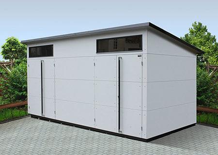 Extragroßes Gartenhaus XL+ mit zwei Eingängen
