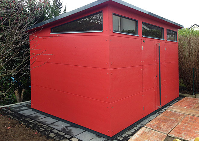 gartana Gartenhaus XL+ in Rot