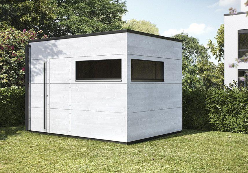 Holz Gartenhaus Mit Flachdach Top Desin Gartana